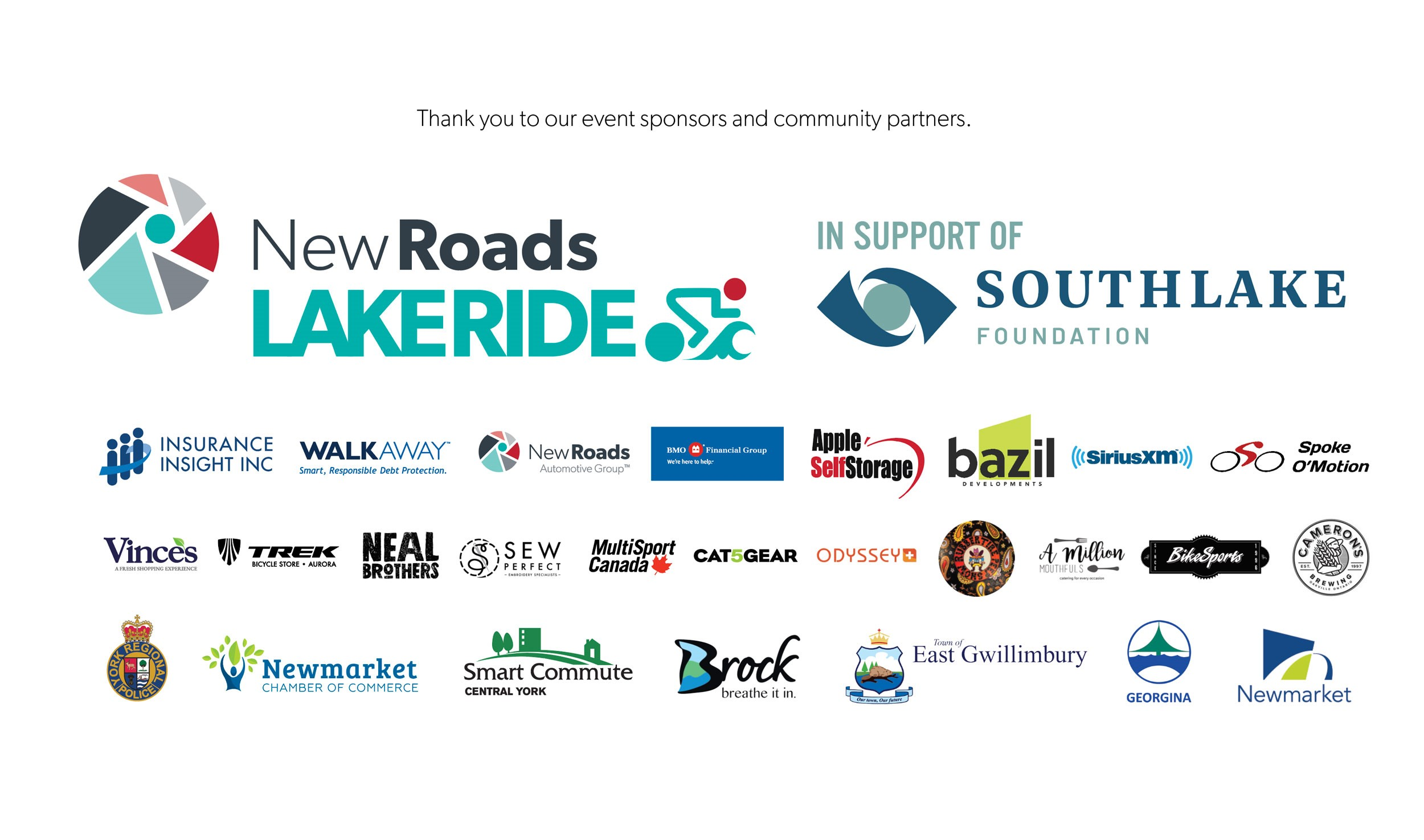 NewRoads LakeRide Sponsors